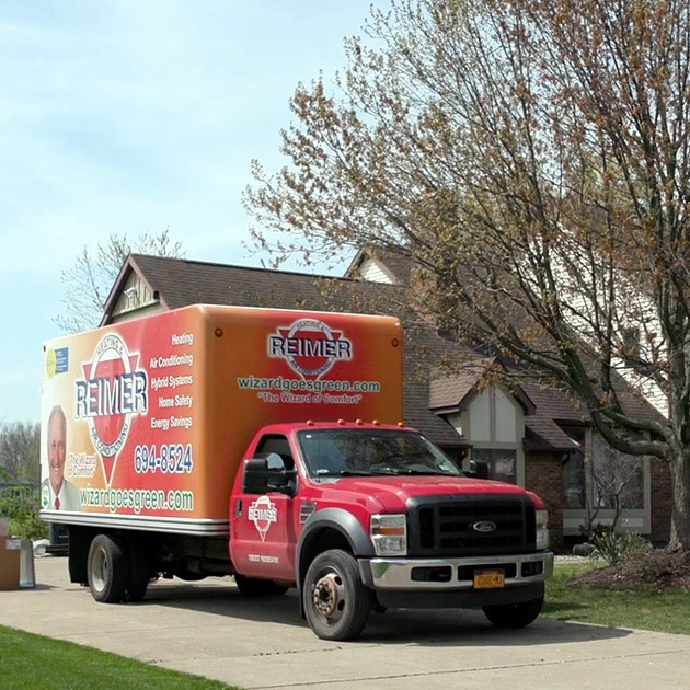 A Reimer installation truck in front of any home here in Buffalo, NY is a sign that someone is getting a new air conditioner or furnace!
