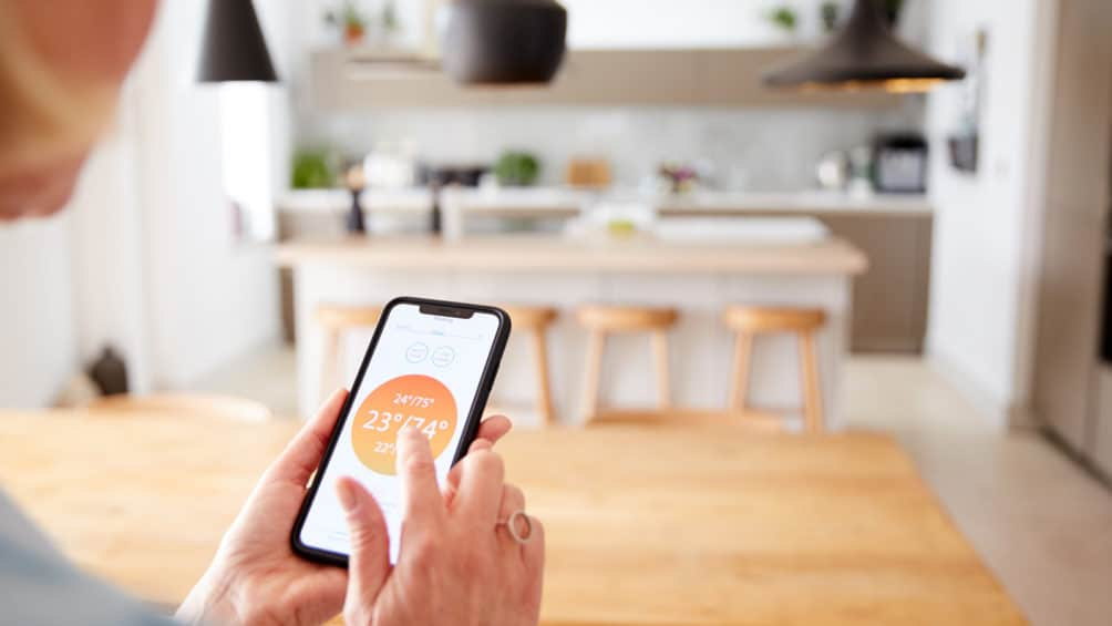 New apps and smart thermostats allow you to control your home's comfort from anywhere: your couch, your car, or your vacation home!